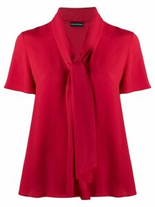 Emporio Armani tie neck blouse - Red