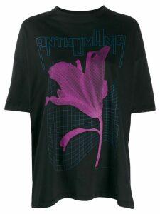 Christopher Kane graphic print oversized T-shirt - Black