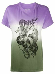 Zadig & Voltaire Tom DD graphic-print T-shirt - PURPLE