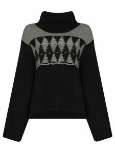 Khaite Luna oversized intarsia cashmere jumper - Black