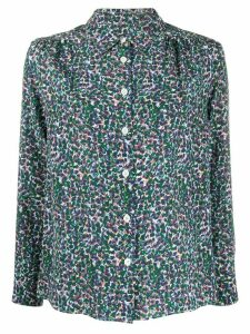 A.P.C. Sutton floral-print silk shirt - Blue