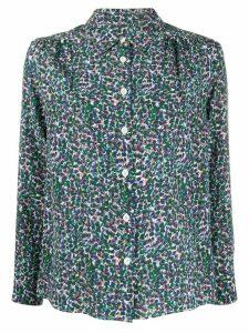 A.P.C. Sutton floral-print silk shirt - Blue