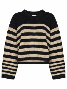 Khaite Dotty striped cashmere jumper - Blue