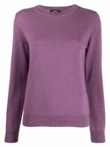 A.P.C. Nola crew neck cashmere jumper - PURPLE