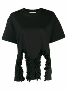 Christopher Kane ruffle trim T-shirt - Black