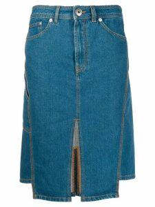 LANVIN slit denim skirt - Blue