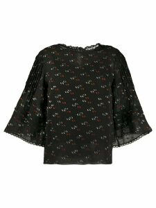 See By Chloé embroidered wide sleeve blouse - Black