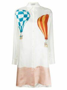 LANVIN Barbar print shirt dress - White