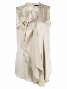 Fabiana Filippi asymmetric ruffle blouse - NEUTRALS