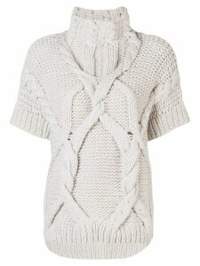 Lorena Antoniazzi coarse knitted sweater - NEUTRALS