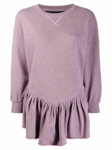 Marc Jacobs longline peplum sweatshirt - PURPLE