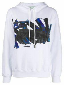 Off-White graphic logo print hoodie