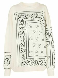 Barrie oversized bandana-pattern jumper - White