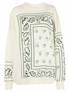 Barrie oversized bandana-pattern jumper - White