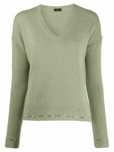 Joseph V-neck jumper - Green