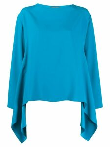 Alberta Ferretti boxy waterfall hem blouse - Blue