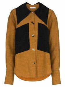 Rejina Pyo Cora oversized collar shirt - Brown