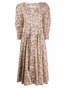 Etro floral midi dress - PINK