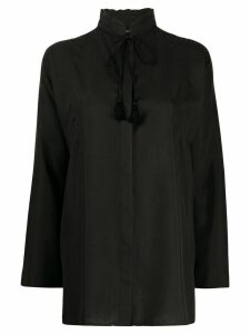 Etro tie neck shirt - Black