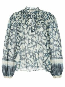 Ulla Johnson Yulia foliage blouse - Blue