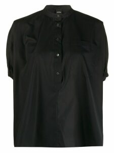 Aspesi ballon-sleeve blouse - Black