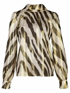 Haney Billie zebra-print blouse - White