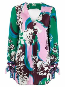 Emilio Pucci printed v-neck blouse - PINK