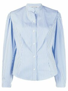 Stella McCartney striped mandarin shirt - Blue