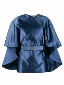 Valentino V belt cape-style blouse - Blue