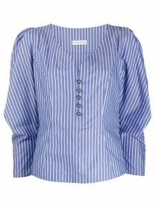 Etro puff shoulder blouse - Blue
