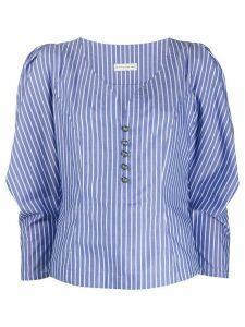 Etro puff shoulder blouse - Blue