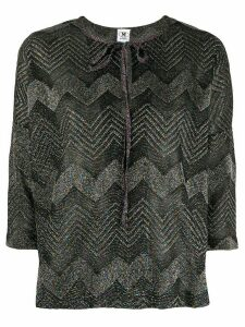 M Missoni zig-zag knit boxy top - Black