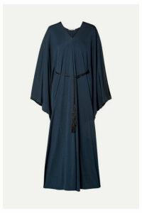 The Row - Joanna Belted Jersey Maxi Dress - Navy