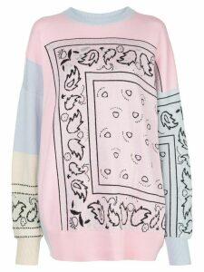 Barrie oversized bandana-pattern jumper - PINK
