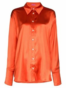 GAUGE81 oversized buttoned shirt - ORANGE