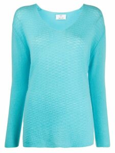 Allude V-neck cashmere jumper - Blue