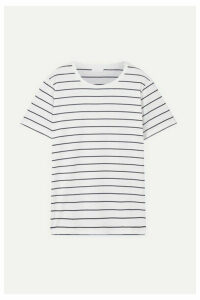Handvaerk - Striped Pima Cotton-jersey T-shirt - White