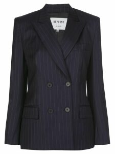 RE/DONE pinstriped blazer - Blue