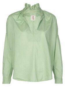 A Shirt Thing ruffle neck boxy shirt - Green