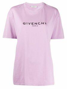 Givenchy logo print T-shirt - PURPLE