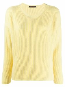 Incentive! Cashmere round neck cashmere jumper - Yellow