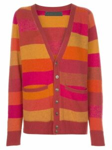 The Elder Statesman striped cardigan - Red