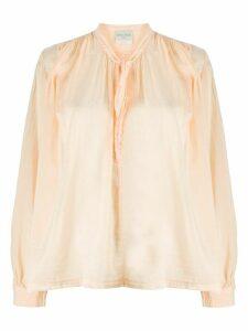 Forte Forte peasant neck-tie blouse - NEUTRALS