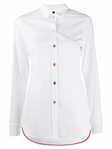 Paul Smith contrast-button shirt - White
