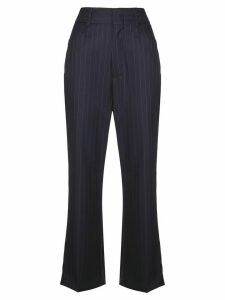 RE/DONE pinstriped trousers - Blue