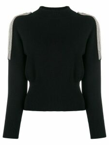 Christopher Kane embellished shoulder jumper - Black