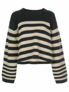 Khaite oversized stripe jumper - Blue