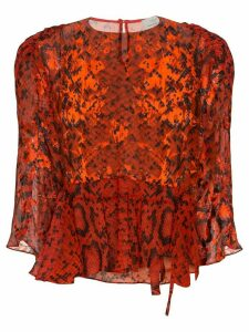 Preen By Thornton Bregazzi Delma snake print blouse - Red