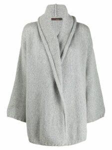 Incentive! Cashmere wrap-around cashmere cardigan - Grey