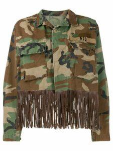 R13 Abu fringed denim jacket - Brown